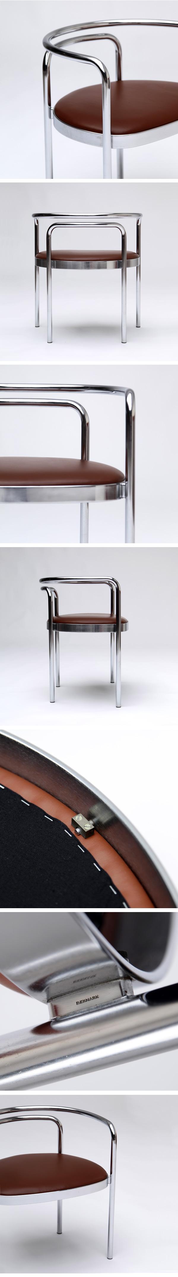 Poul Kjaerholm, PK 12, chair, steel tubing