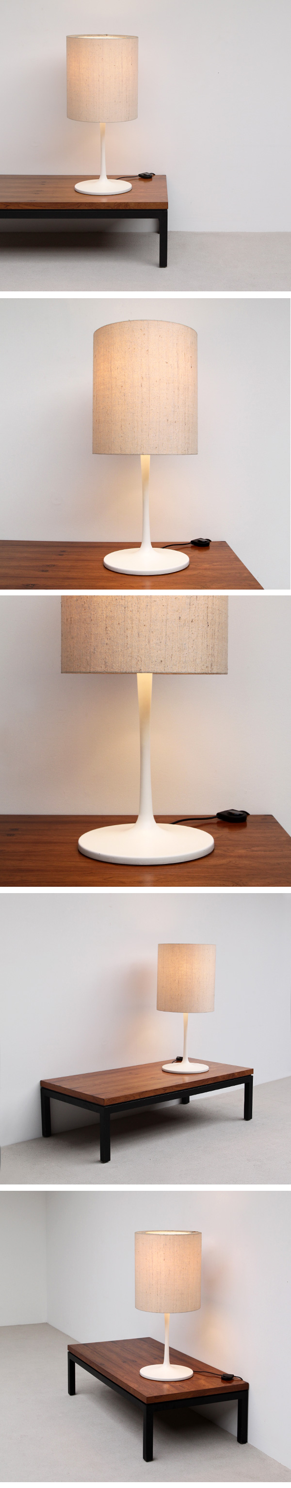 Staff, Table, Lamp, white, lacquered, Metal