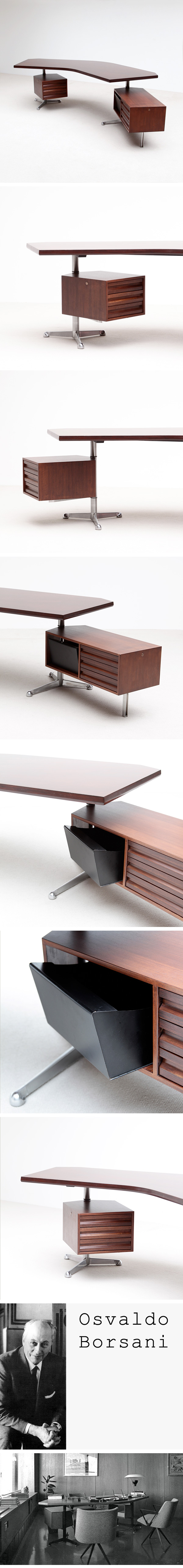 T96, Executive, Desk, Osvaldo Borsani, 1956