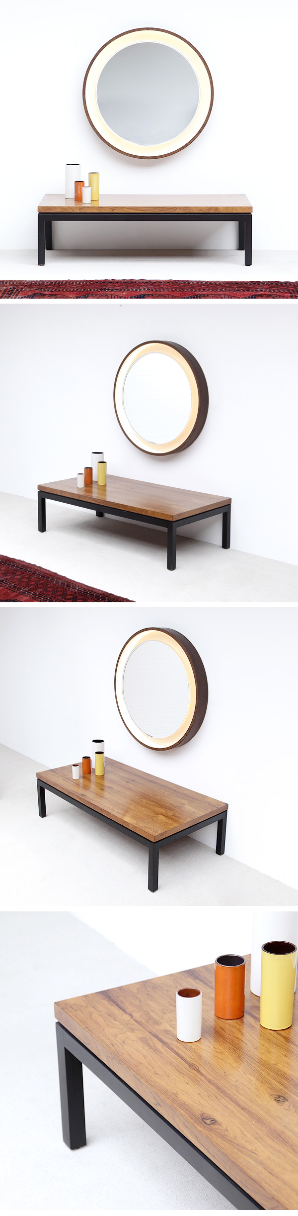 ROSEWOOD ,COFFEE TABLE ,MILO BAUGHMAN, THAYER COGGINS ,USA