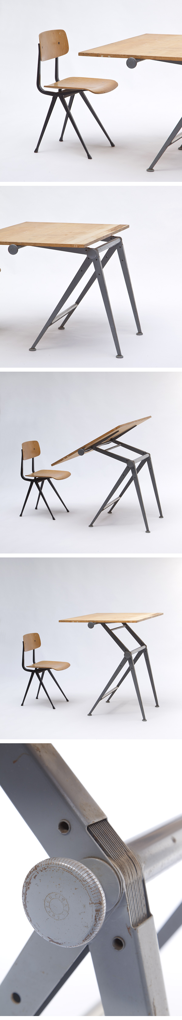 Wim Rietveld, Drafting Table, chair, dutch, design, vintage