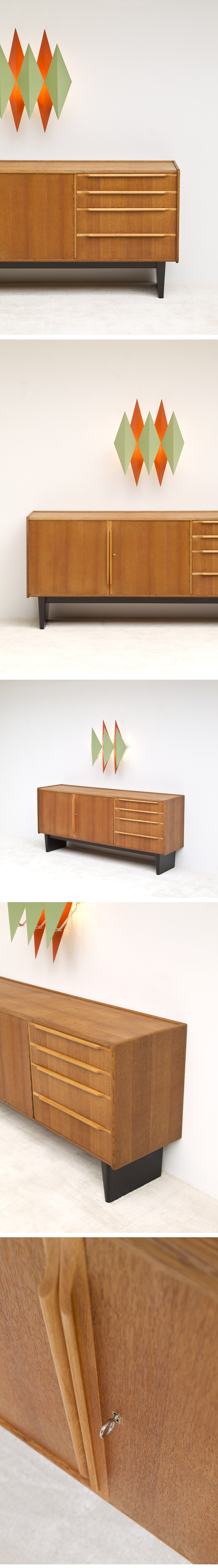 CEES BRAAKMAN, SIDEBOARD, OAK, 1950s, dutch