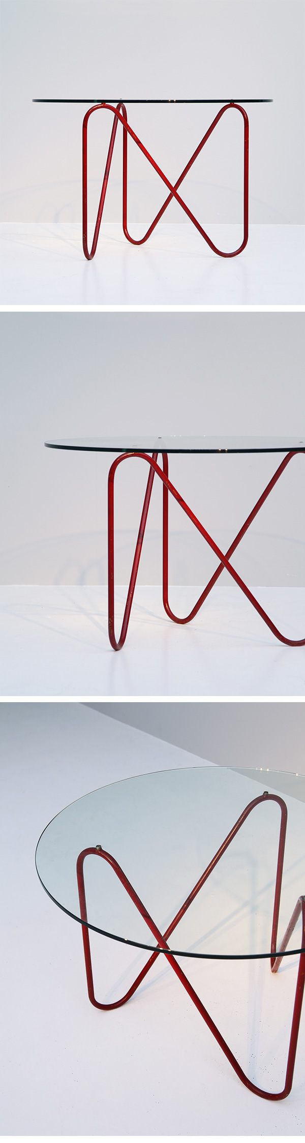 1950s hairpin coffee table