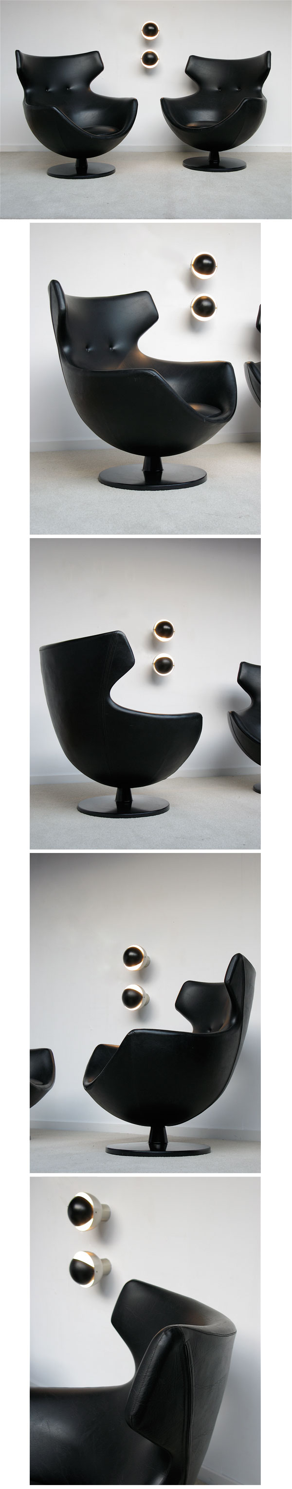 PIERRE GUARICHE, Egg, chair, MEUROP, Belgium, 1960s