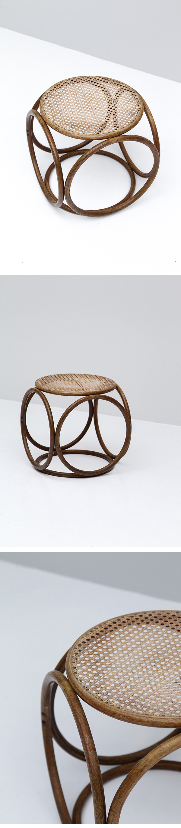 Occasional, woven cane, tabouret