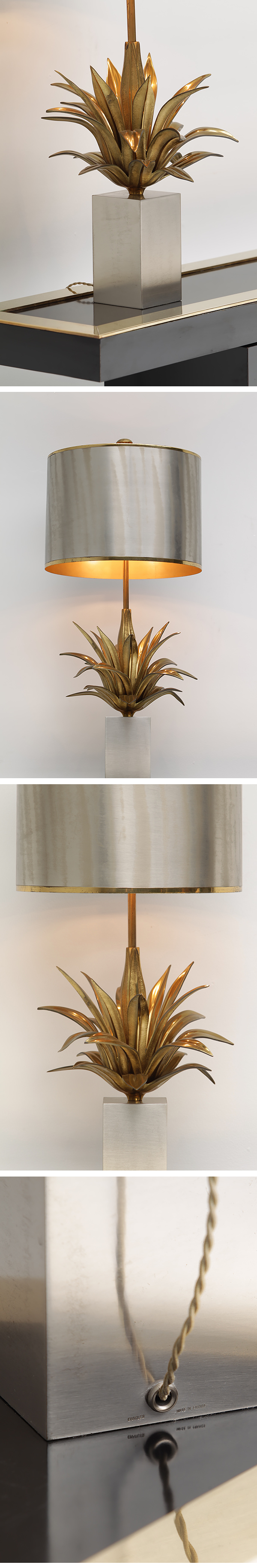 Table lamp, signed, Maison Charles, Paris, France