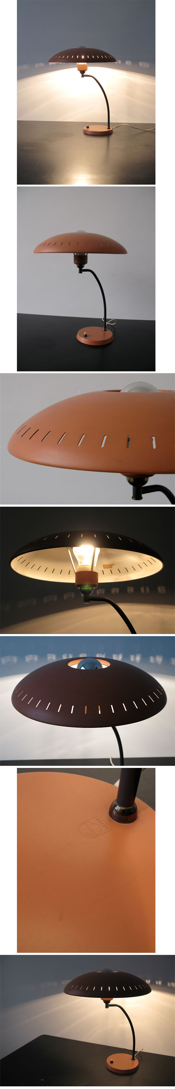 Orange, Desk, lamp, Louis Kalff, Philips