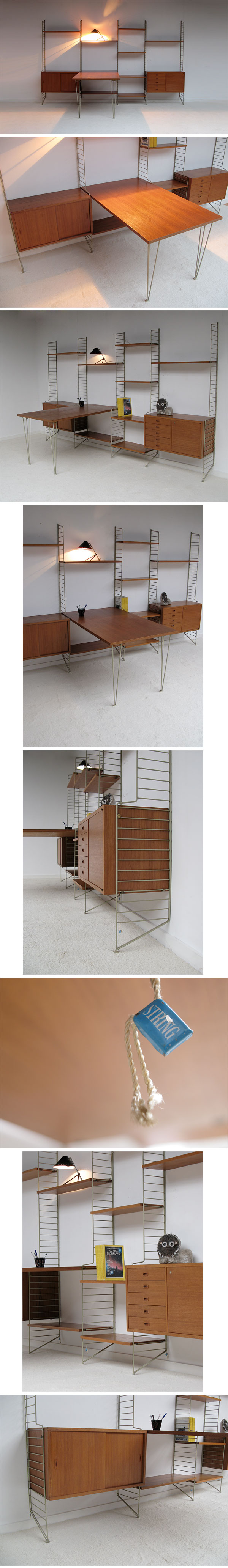 String, shelf, system, designed, Nisse, Strinning, dated, modernist