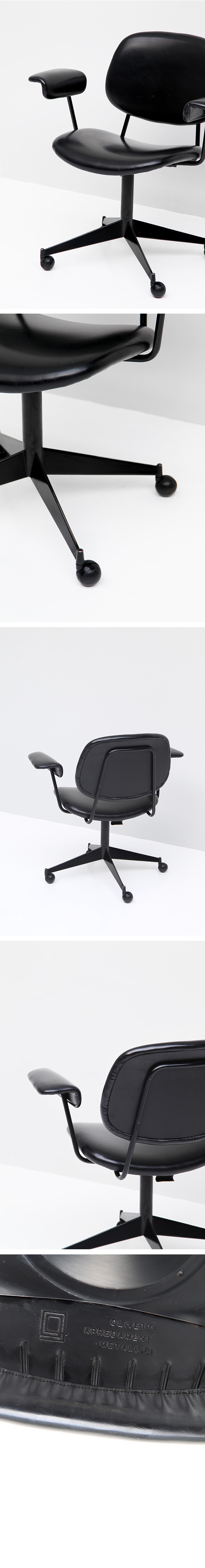 Olivetti, BBPR, swivel, desk, chair