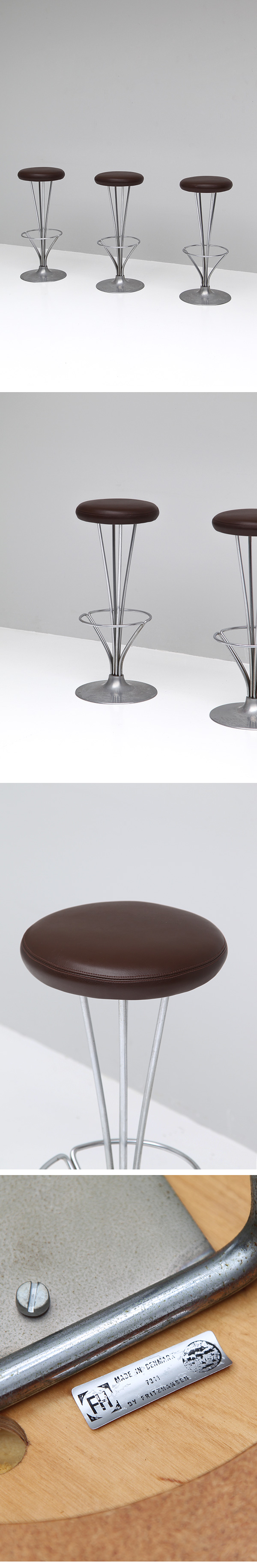 City Furniture Piet Hein For Fritz Hansen Bar Stools