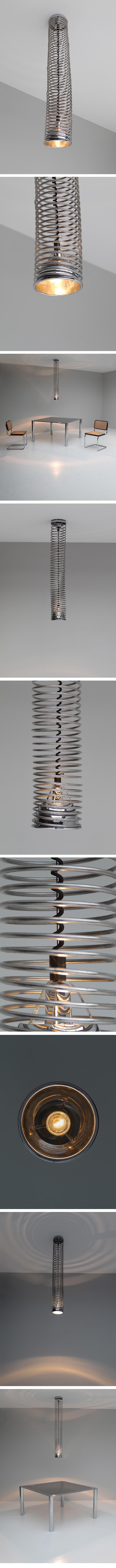 Spiral, haning, lamp, Angelo Mangiarotti, Babur Kerim Incedayi