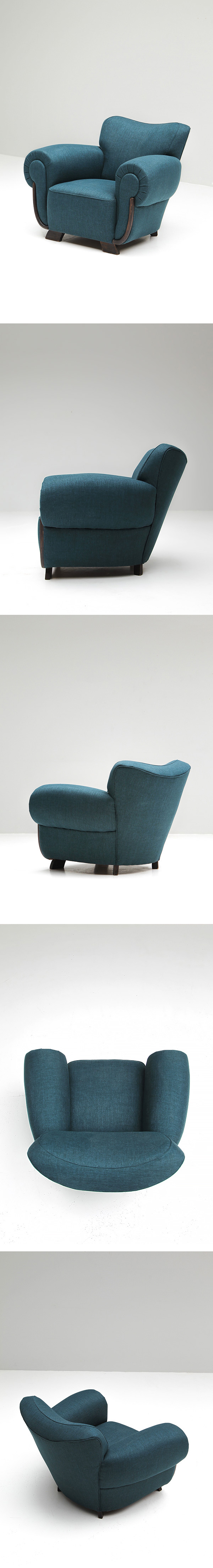 Belgium, Art-Deco, club chair, 1940s