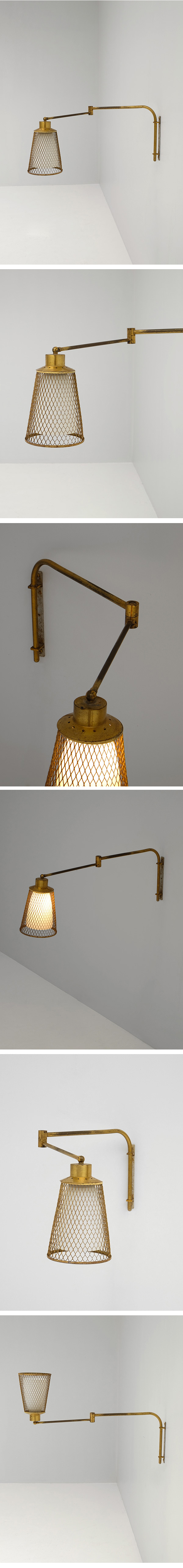 Fifties, swivel, reading, wall lamp