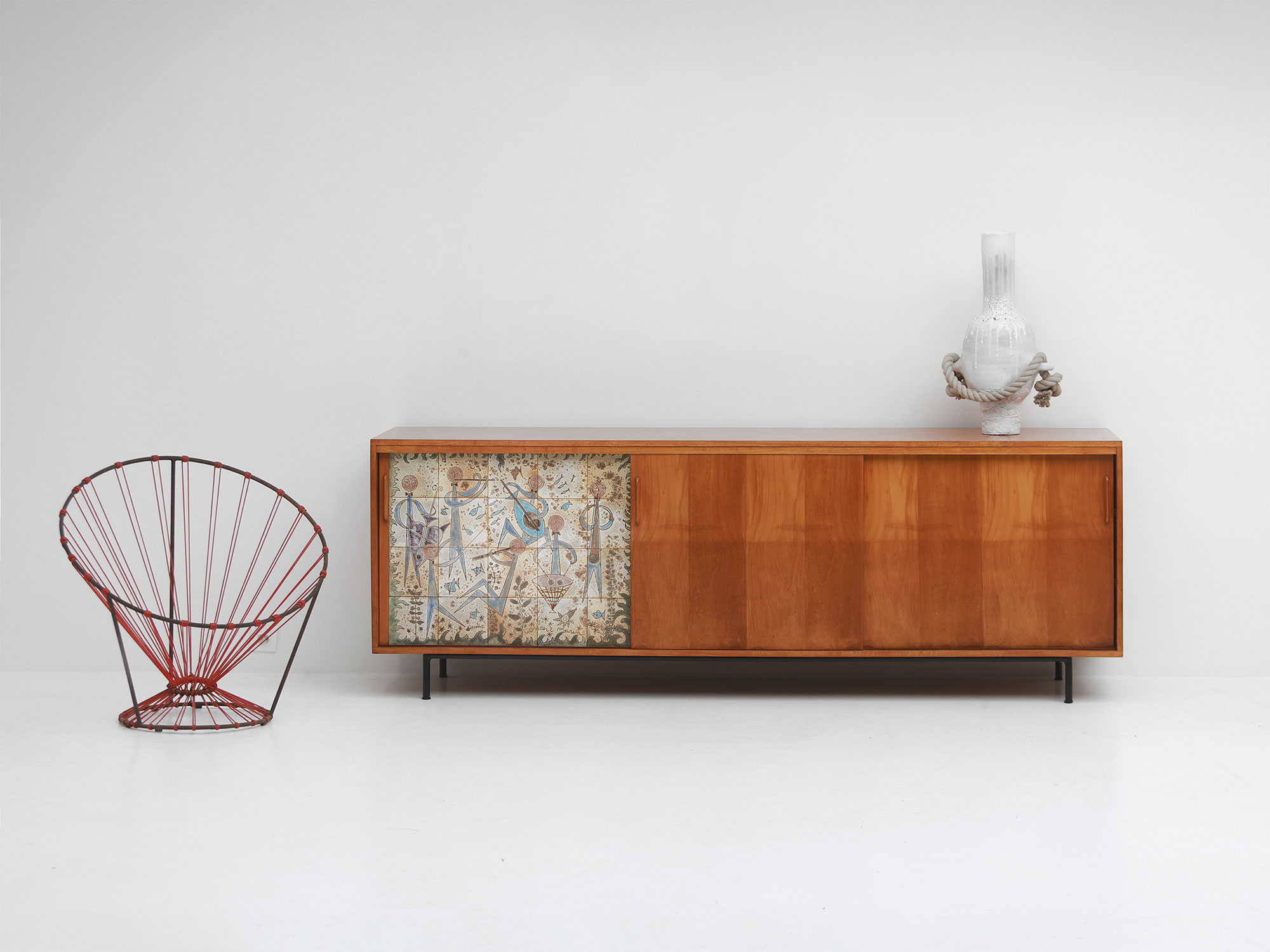 Sideboard with Ceramic Tiles Charles-Emile Pinson 1958