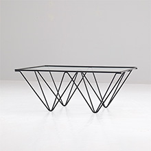 HAIRPIN BASE COFFEE TABLE