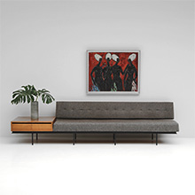 Sofa and Cabinet by Florence Knoll