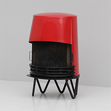 VINTAGE DANISH ENAMELLED RED STOVE