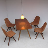 dining or kitchen table with 4 chairs dated  AUG.1960