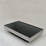 Willy Rizzo chrome coffee table