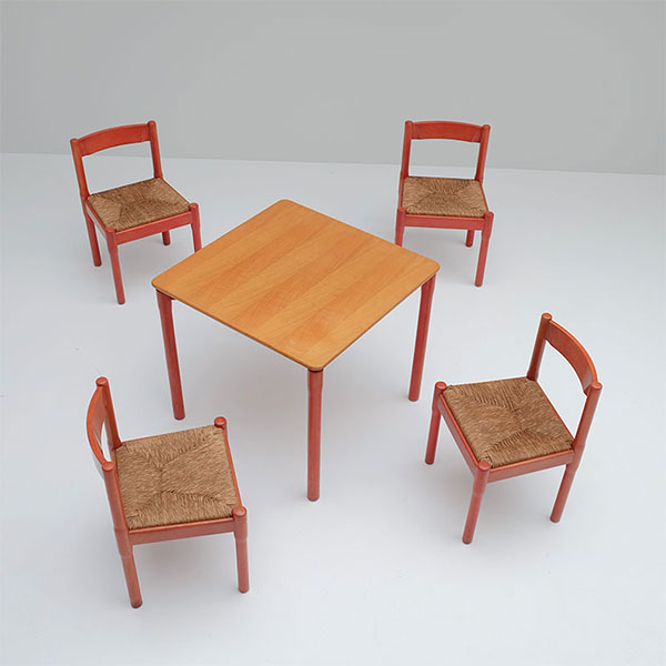 "Set of 4 Vico Magistretti for Cassina ""Carimate"" Chairs and"