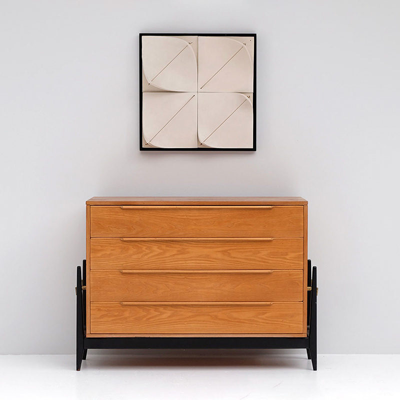 Elegant 50s Belgian Chest with Drawers