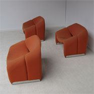 3 M chairs 'F598' by Pierre Paulin for Artifort 1967