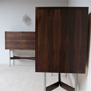 Beautiful rosewood sideboard and cocktail bar 1960s
