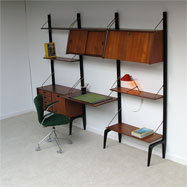 50s dutch Webe wall unit with writing desk