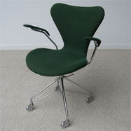 Early Arne jacobsen swivel chair on casters Made in Denmark