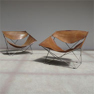 Pure vintage Pierre Paulin Artifort F675 'Butterfly' chairs