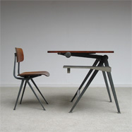 Friso Kramer Industrial drafting table and chair