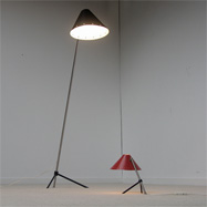 50s Pinocchio floor and table lamp by Busquet for Hala