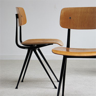 6 industrial Friso Kramer 'Result' chairs