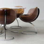 5 Boris Tobacoff 'SPHERE' dining chairs 1971