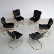 set of 6 dining chairs from 'Cidue' C2 made in italy
