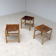 3 stools attributed Charlotte Perriand 1960s