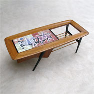 1950s Alfred Hendrickx Belform coffee table with ceramic tiles