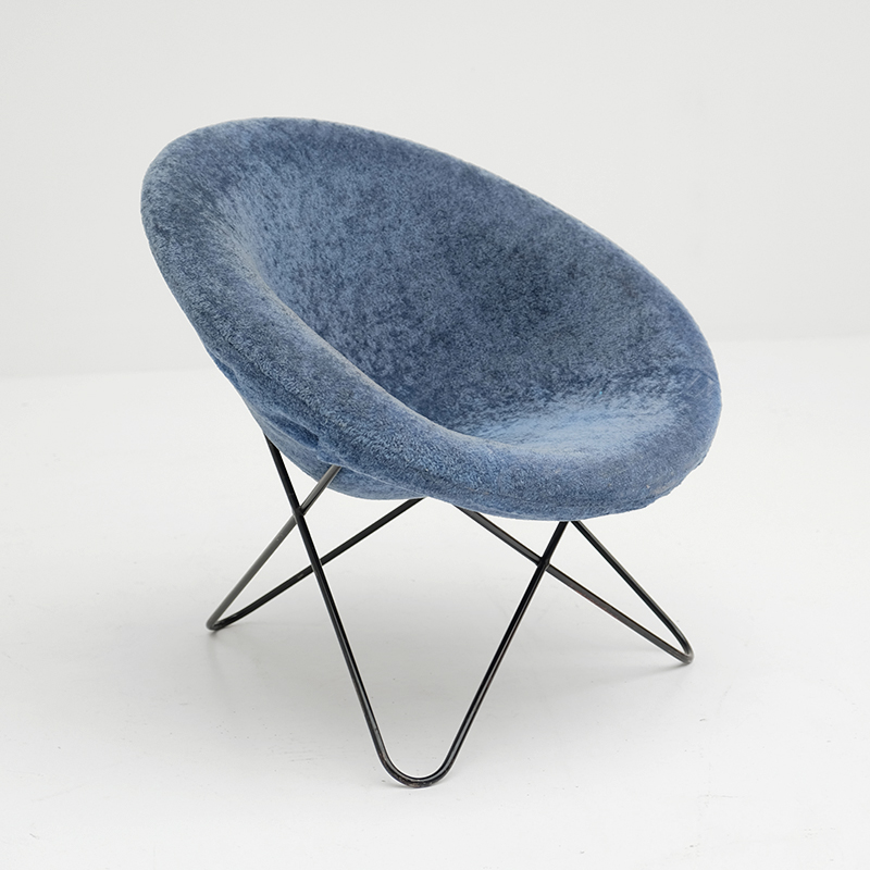 1950s Hairpin Side Chair Jean Royere