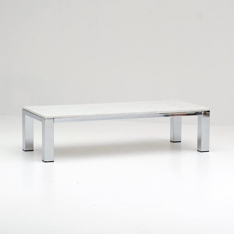 CHROME_AND_MARBLE_COFFEE_TABLE_1970s