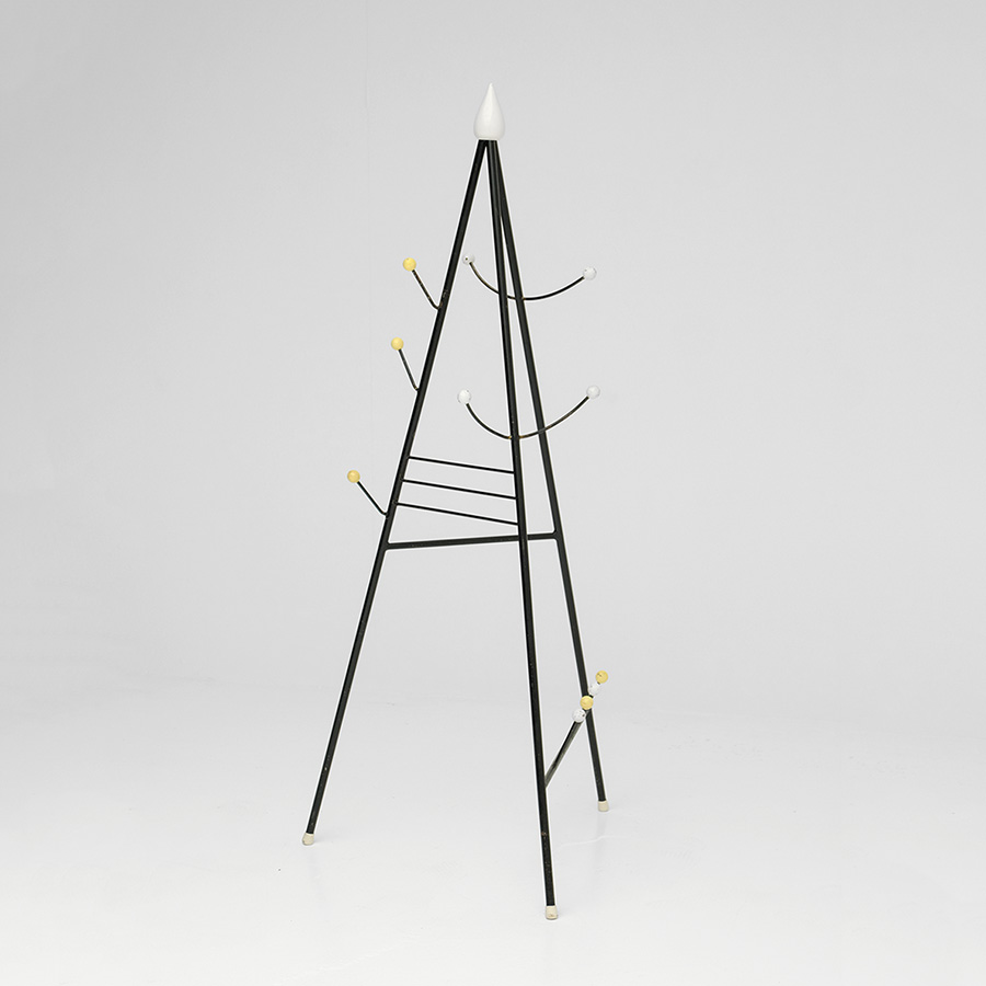 Joan Miro inspired atomic coat stand