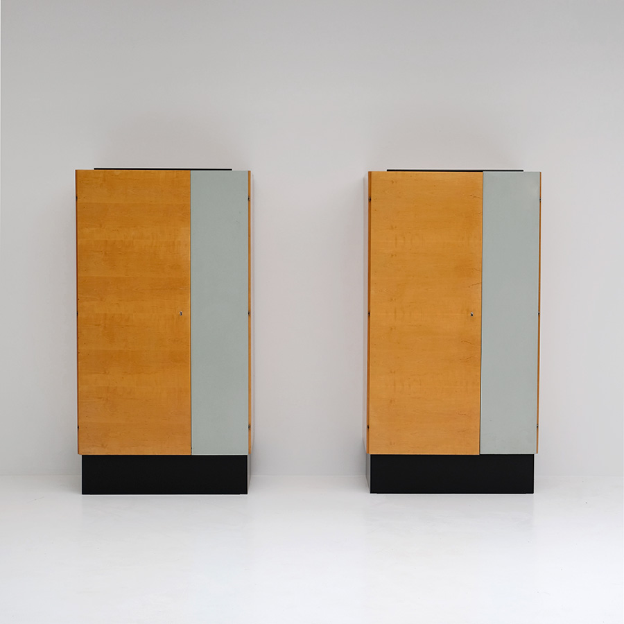 Pair of Modernist 50s Wardrobes