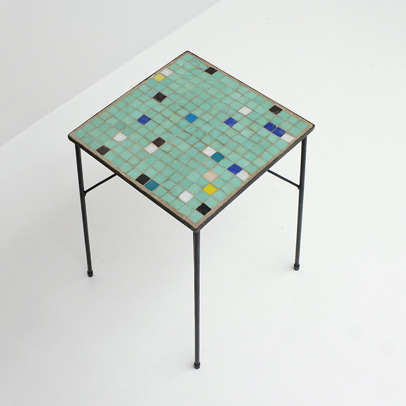ceramic tyled 50s side table