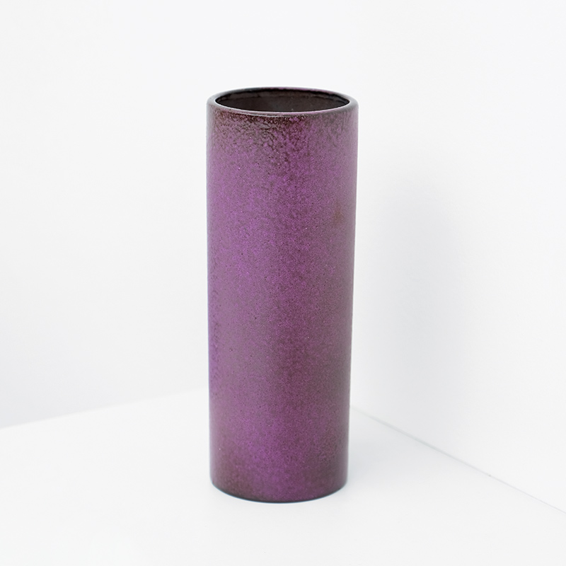 Decorative cylindrical Purple Vase