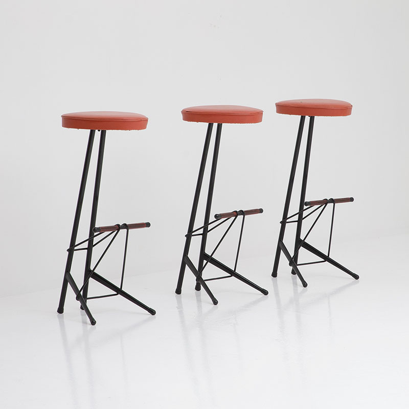 Willy Van Der Meeren Bar Stools