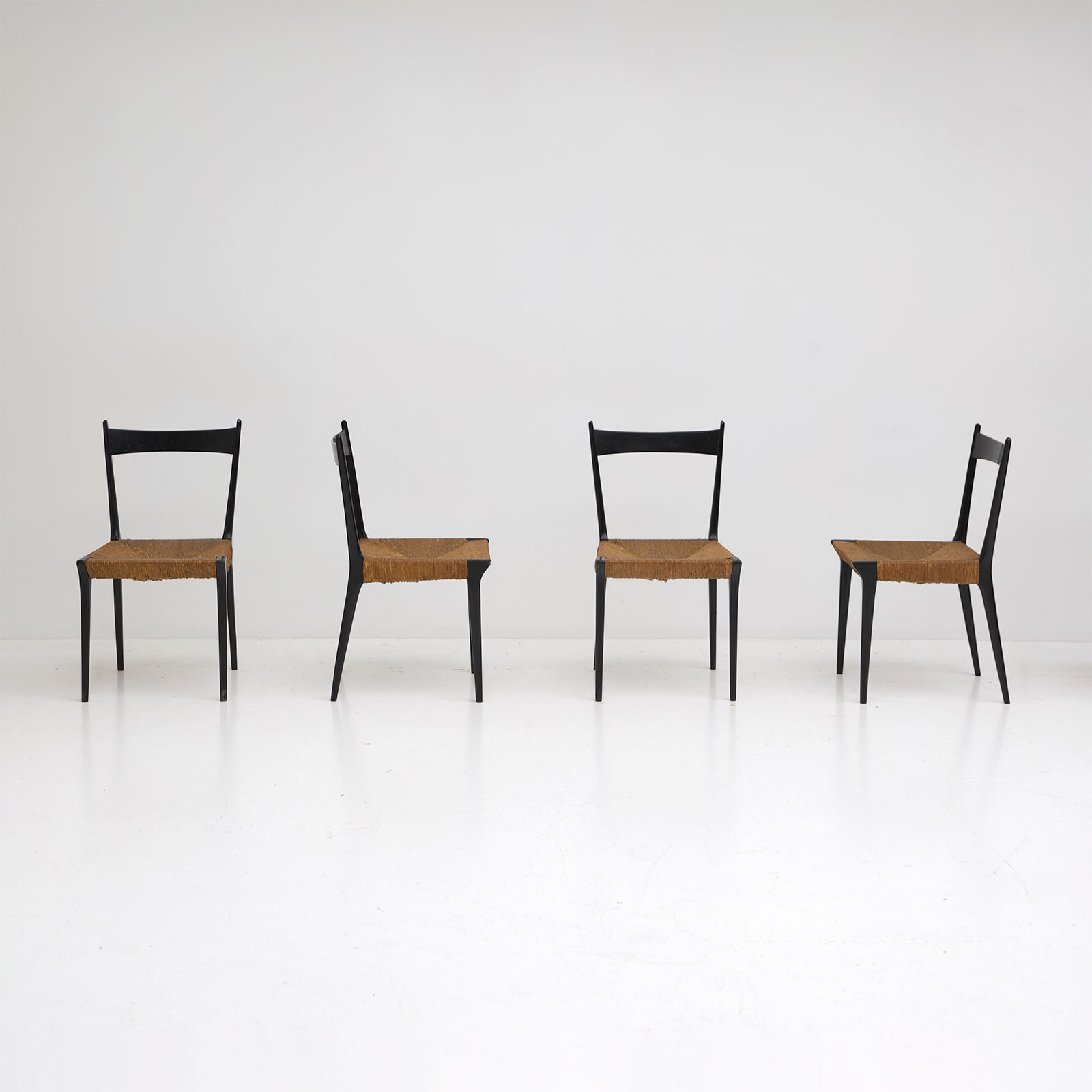 Set of six S2 chairs  by Alfred Hendrickx for Belform