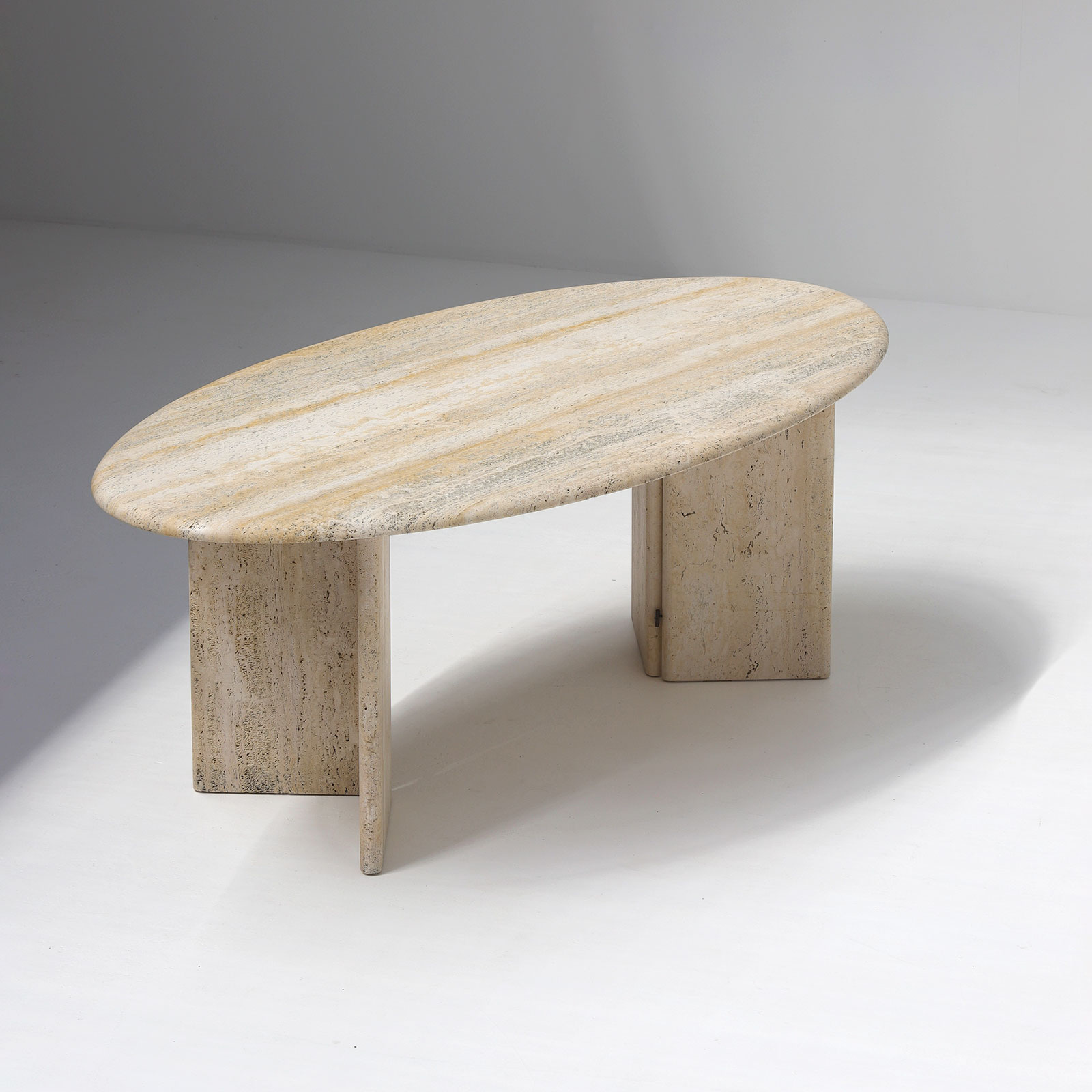 Travertin Dining Table