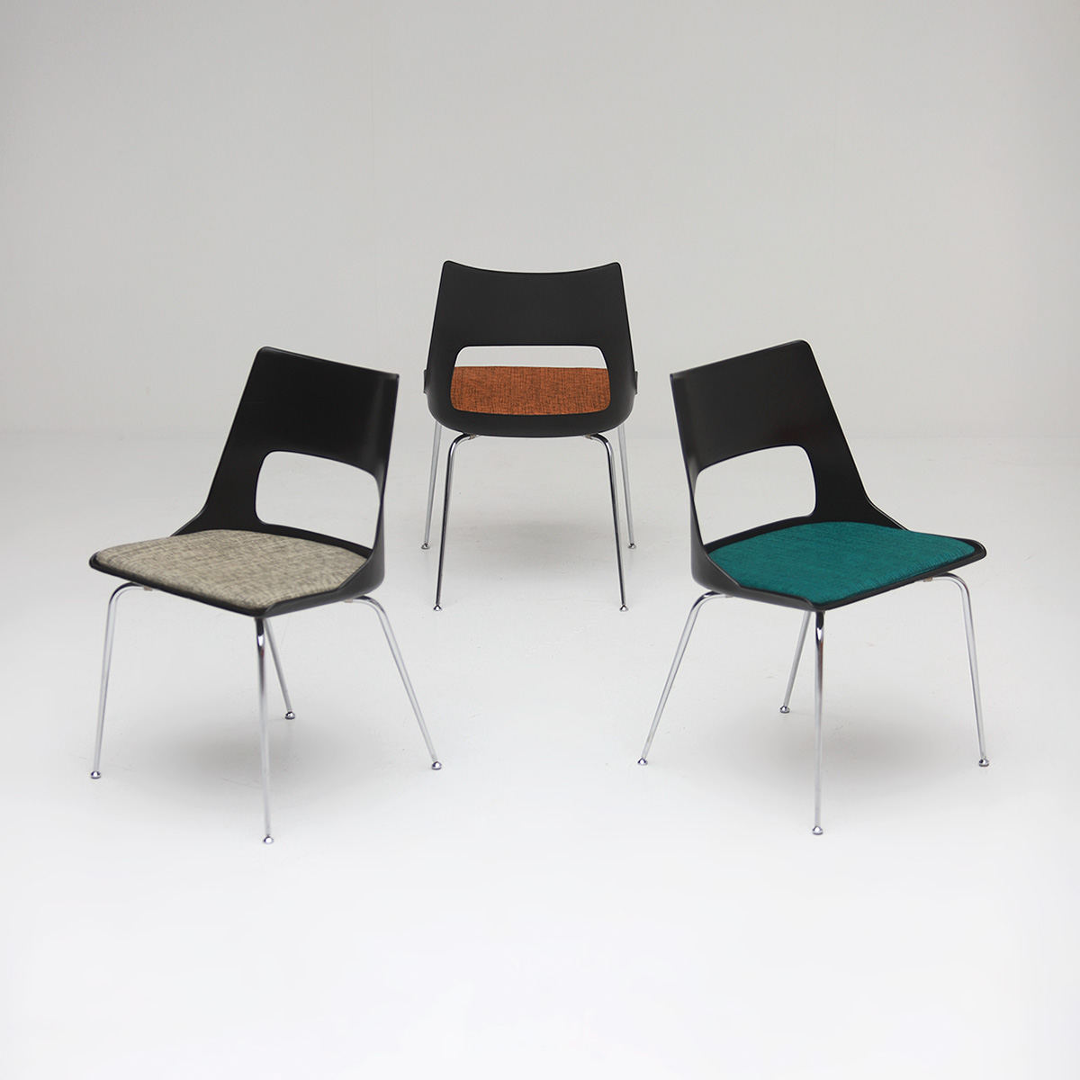 Set of three Modern Kay Korbing chairs for Fibrex Danmark