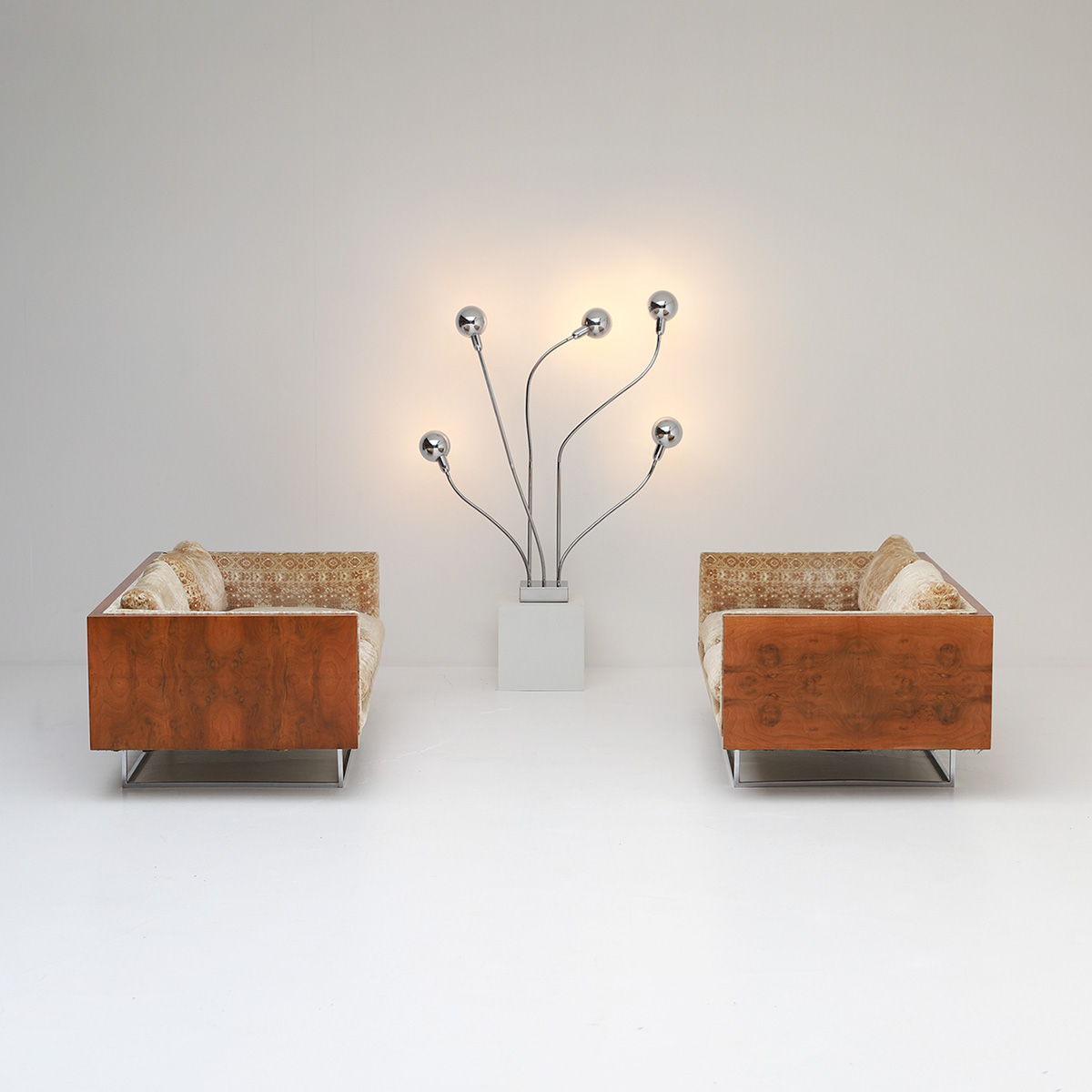 Pair of Milo Baughman Case Floating Loveseats