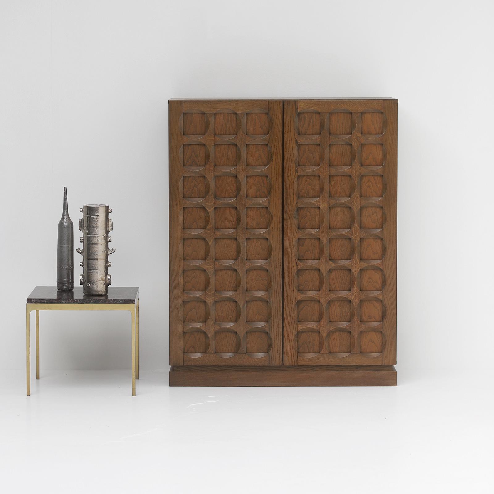 1970s Defour Cabinet Graphical Door Panels