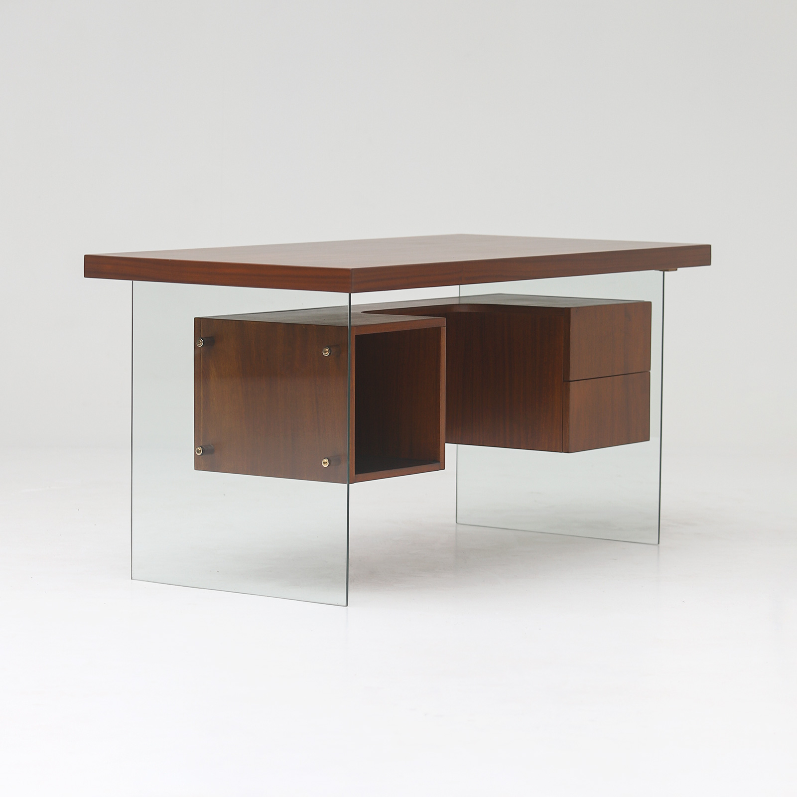 Modernist desk in the manner of Jacques Dumond, 1950s